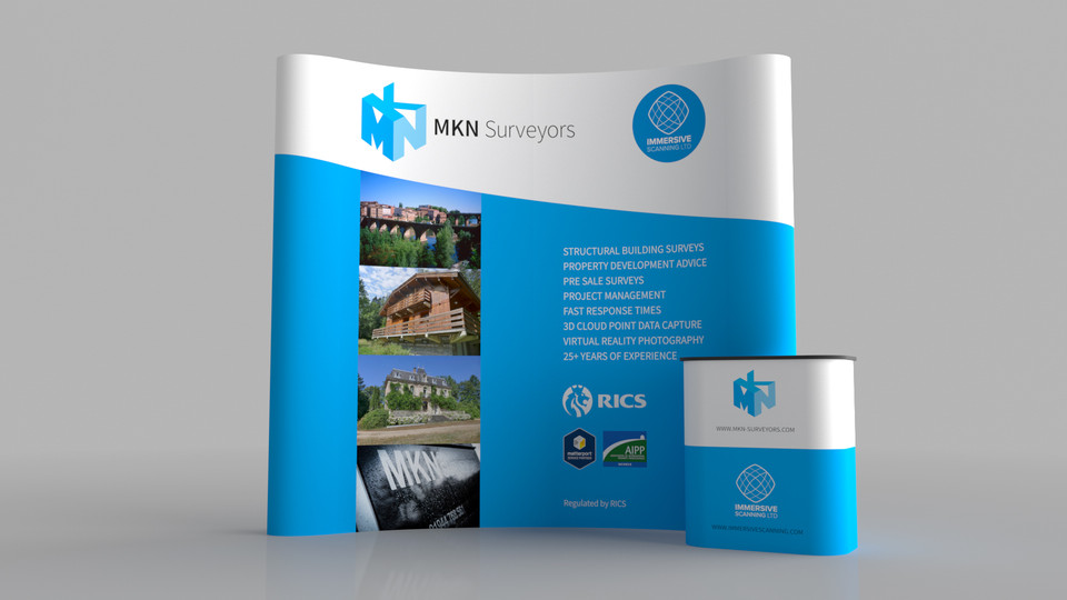 MKN Surveyors Branding and Exhibition Stand